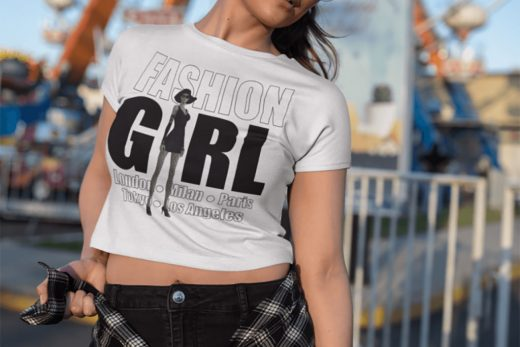 Fashion Girl Design on our beautiful model in Los Angeles.