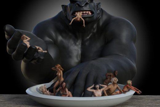 Troll Humans taste like chicken