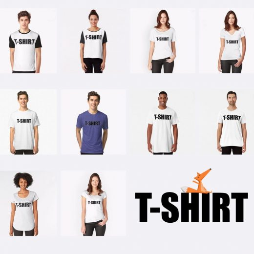 The T-SHIRT all models @ TipsyRedFox.com