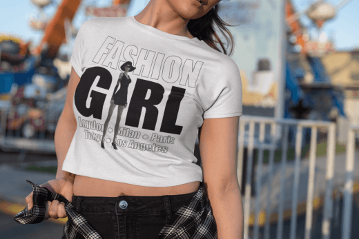 Fashion Girl Design on beautiful model