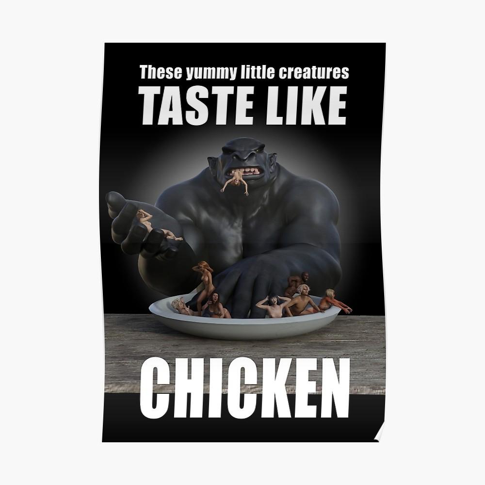 Yummy - humans taste like chicken