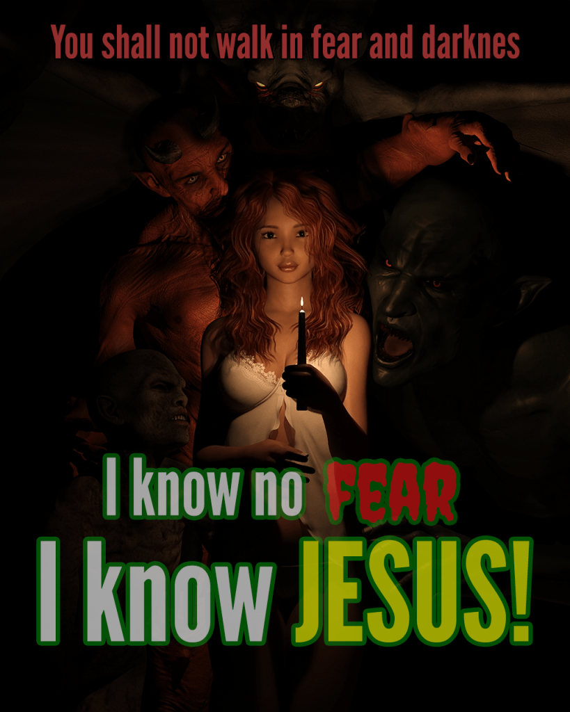 I know no fear, I know Jesus! The tipsy red fox design. Andy Renard.
