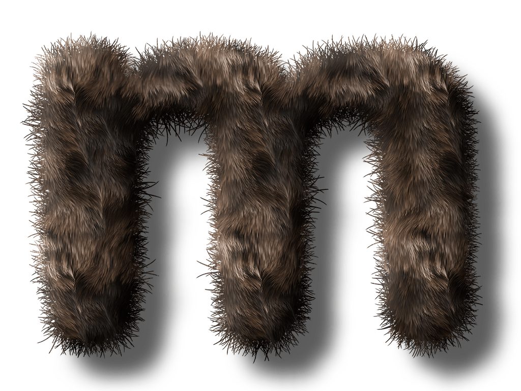 "The furry M. Is it an ""M"" for mouse? Or, is it ""M"" for meow? Let's ask the cat..."