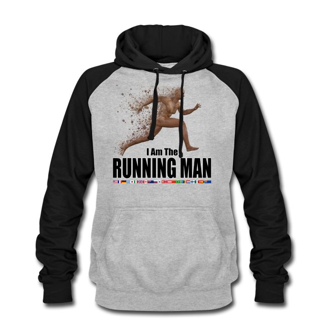 Baseball Hoodie - Running Man.