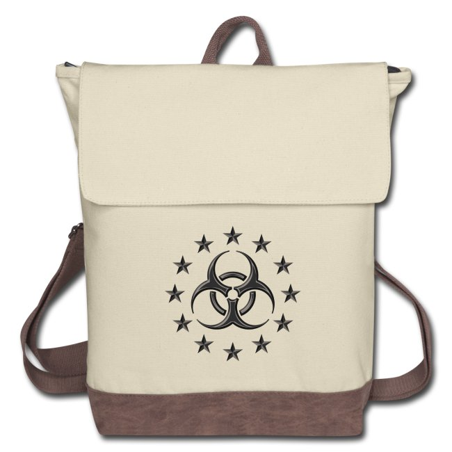 Canvas Backpack from Spreadshirt - Biohazard.