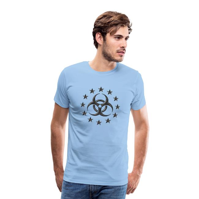 The Biohazard symbol on a premium t-shirt. Buy it online.