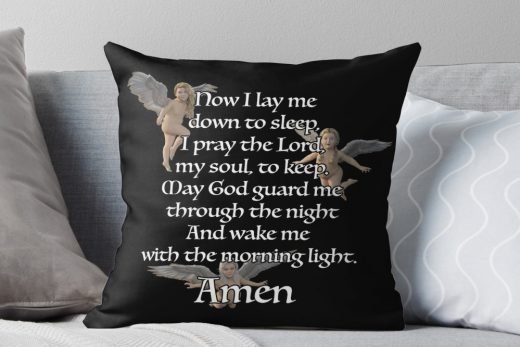 Very cute pillow with a bedtime prayer for Children.