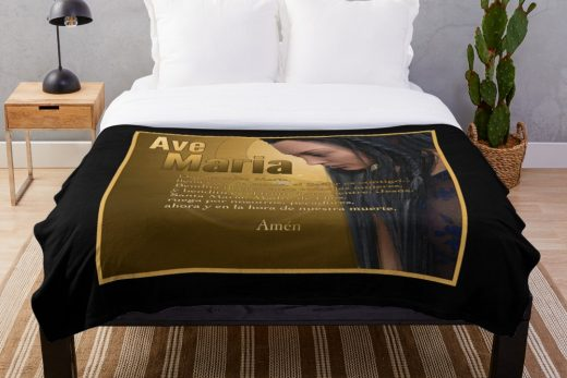Ave Maria, Virgin Mary, duvet cover