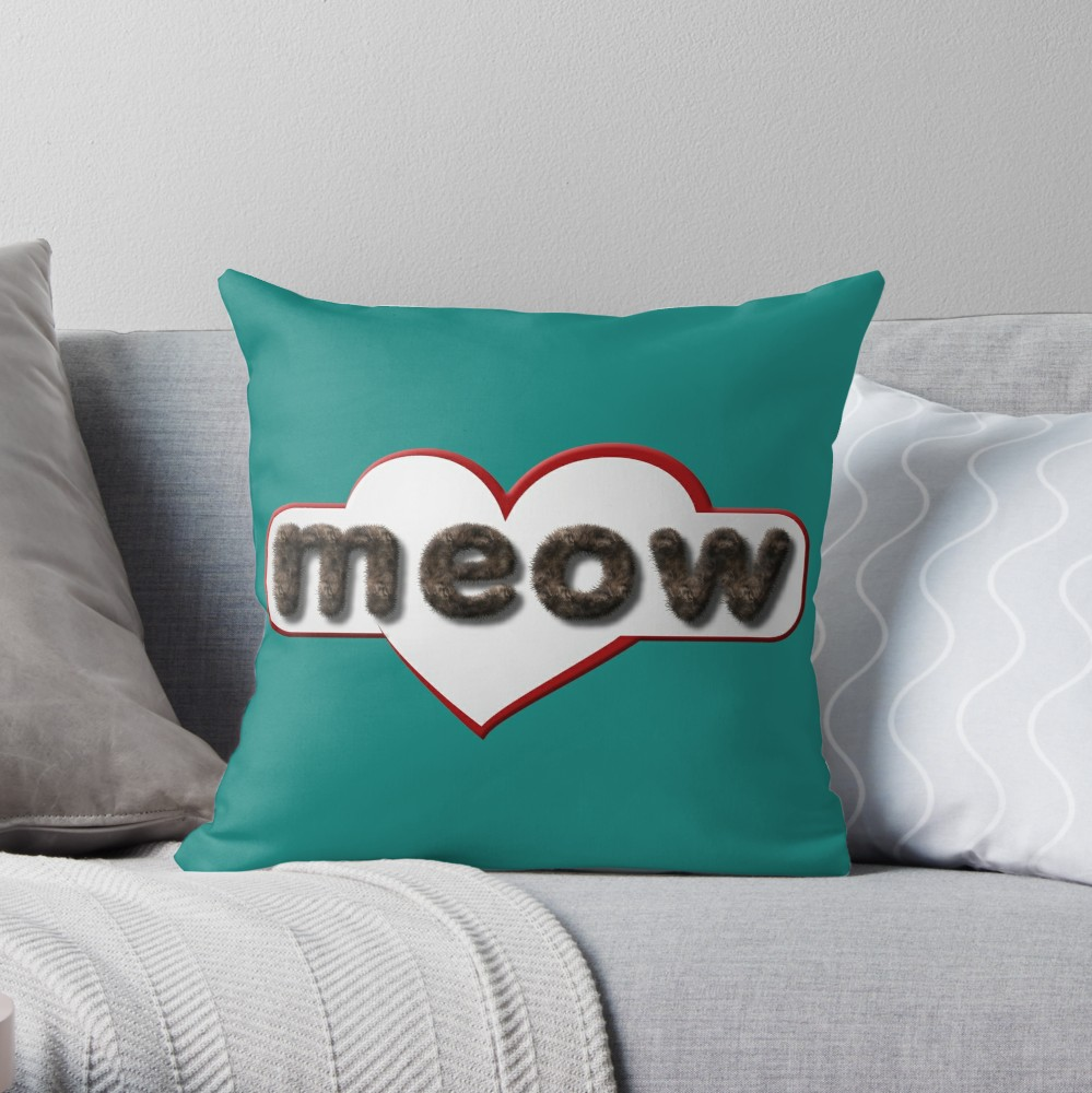 A super stylish pillow for the couch, and the cat.