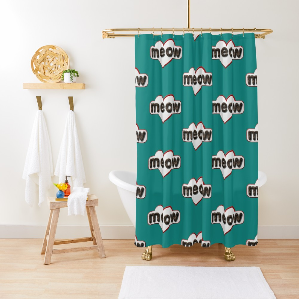 A shower curtain for cats? Does cats like to bath?