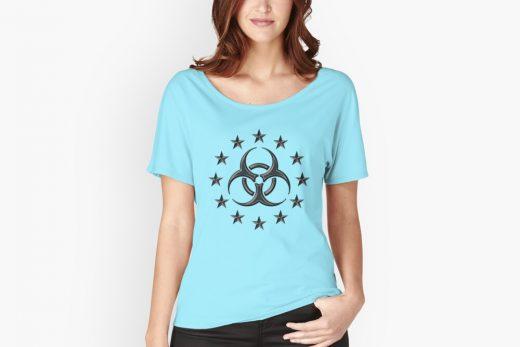 Biohazard symbol t-shirt