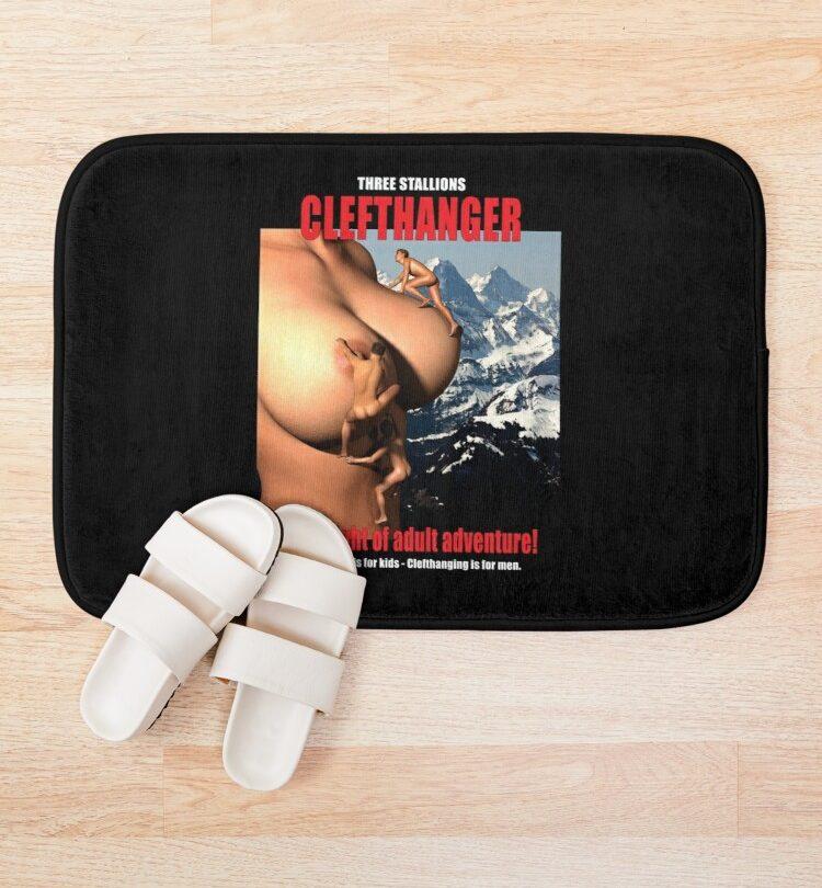 Clefthanger - better than cliffhanger Bath Mat