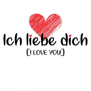 Ich liebe dich - I love You! | Unique clothing online.
