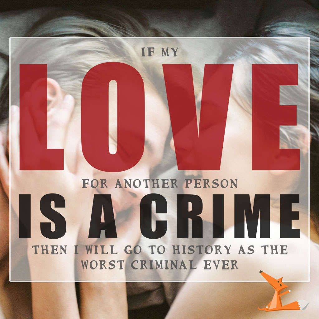 LOVE is a CRIME | Love isn't a crime – tell it by a t-shirt