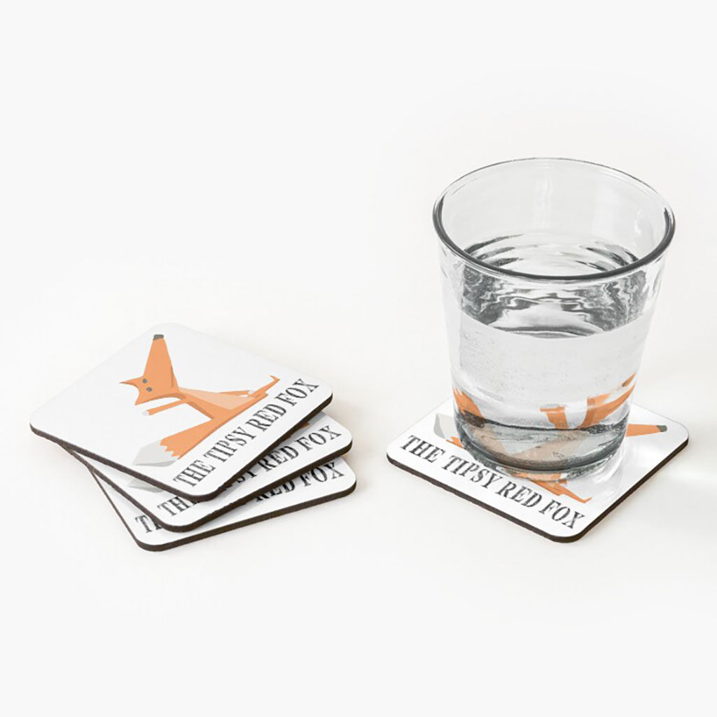 The Tipsy Red Fox Coasters.