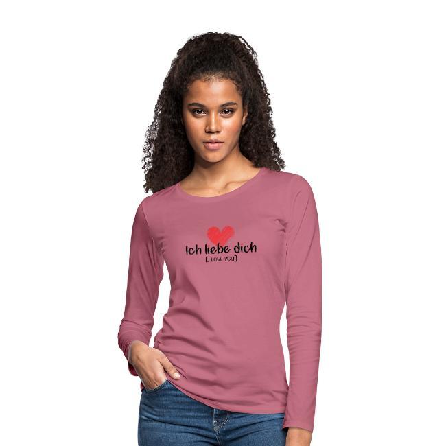 I Love You - Women's Premium Long Sleeve T-Shirt.
