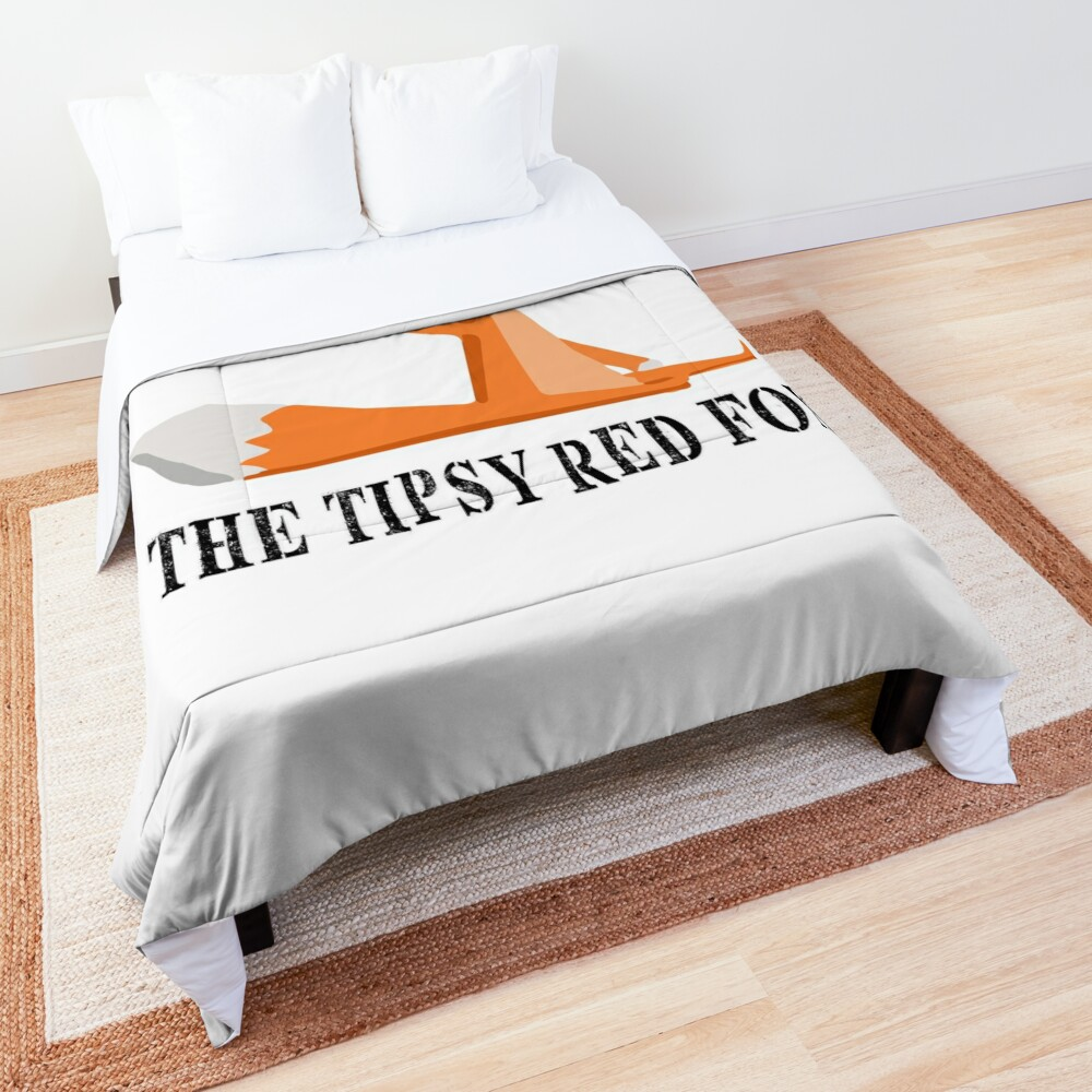Comforter with clear, full-color print on front, white on the back.