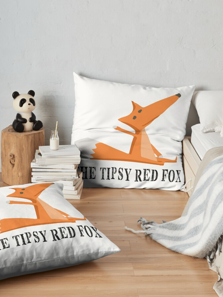 The Tipsy Red Fox Floor pillow.