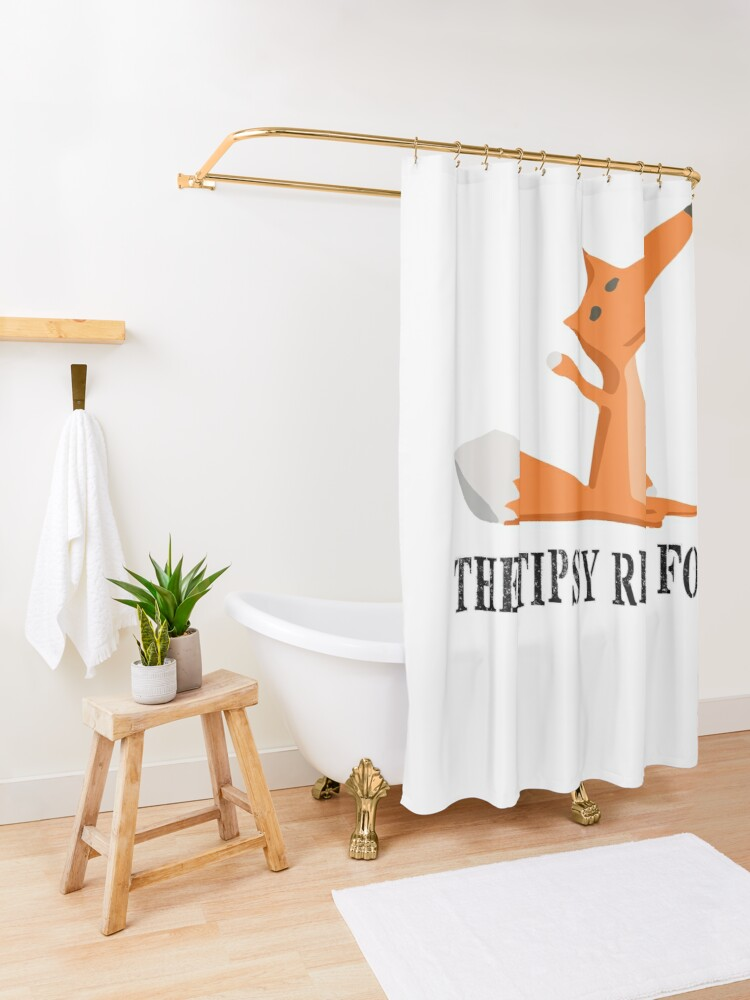 Cute Red Fox Shower Curtain.