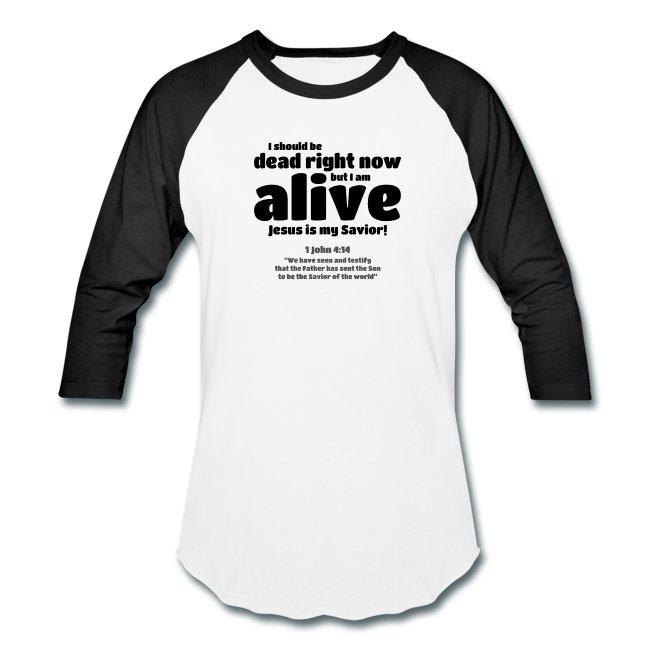 Christian baseball t-shirt for men.