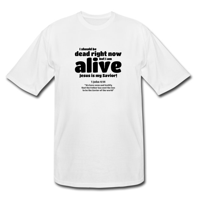 T-shirt - Jesus is my saviour. Buy Christian clothes online.