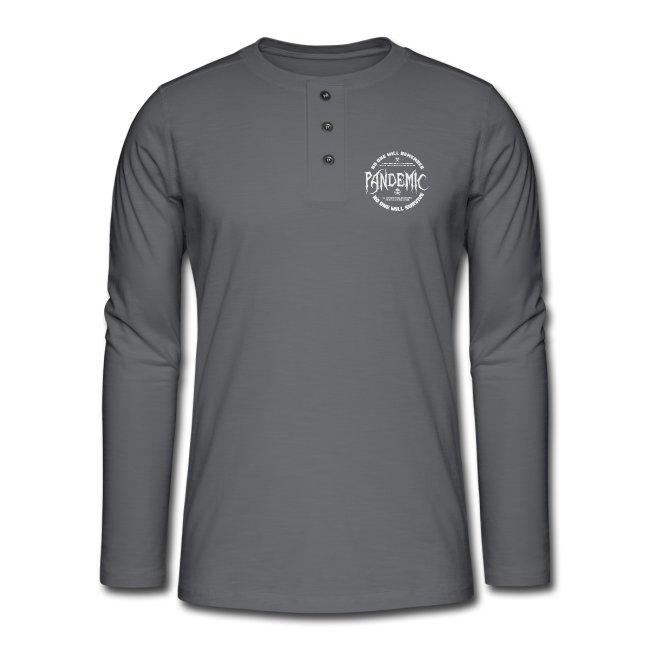 Henley long-sleeved shirt.