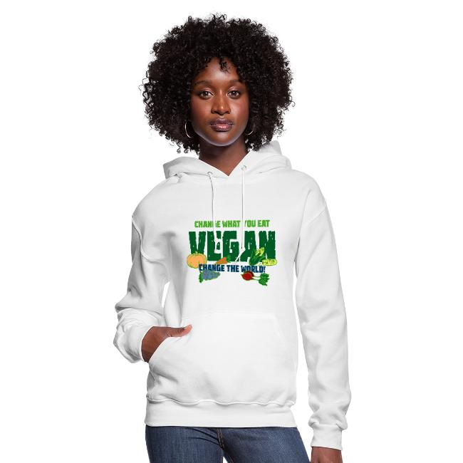 Women's hoodie - cool clothing for vegans or vegetarians.