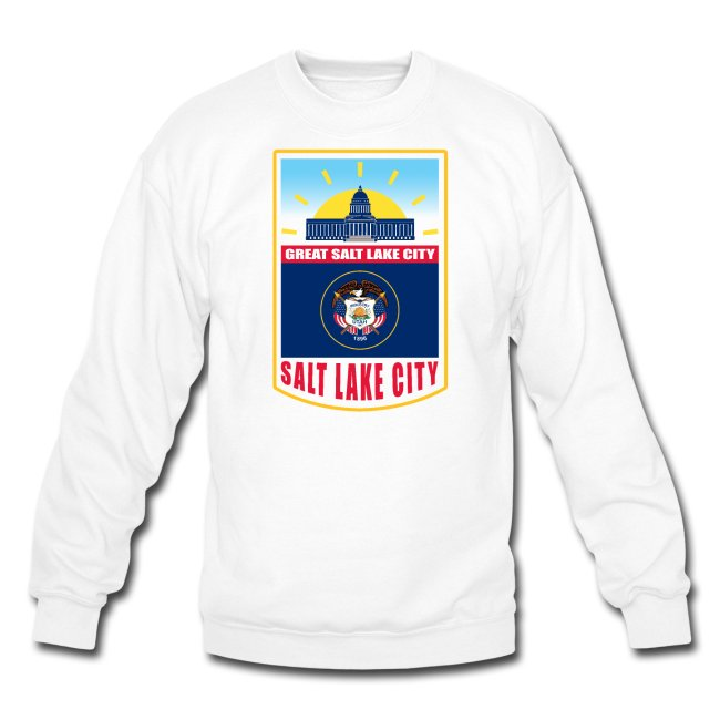 Crewneck Sweatshirt with state emblem.